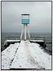livreddertårnet  på   Bellevue Strand der er  dækket af sne i januar 2010 . Photo: Torben Christensen © Copenhagen, Foto: Torben Christensen  København ©