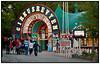 Indgangen til Cirkusrevyen på Bakken   . Photo: Torben Christensen © Copenhagen, Foto: Torben Christensen  København ©