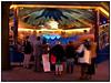 Tivoli forlystelser i bevægelse  i aftenlys Sankt Hans aften 23. juni 2010. Her er det vikingebådene i fuld fart   . Photo: Torben Christensen © Copenhagen, Foto: Torben Christensen  København ©