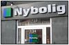 Nybolig Logo og kontor på Gammel Kongevej Nykredit Foto: Torben Christensen © Copenhagen 2012