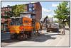 Asfaltmaskiner fjerner asfaltlaget på Godthåbsvej inde pålægning af ny asfalt.  Photo: Torben Christensen © Copenhagen