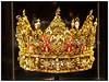 Kongekrone Christian 4.s krone, udført af guldsmed Dirich Fyring i Odense 1595-96. Guld med emalje, taffelsten og perler, samlet vægt på 2895 g.<br /> <br />   Foto: Torben Christensen © Copenhagen 2012