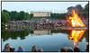 Sankt Hans aften fejredes med Sankt Hans bål i Frederiksberg Have nedenfor Frederiksberg Slot  lørdag 23, juni 2012 med underholdning af Alberte og båltale af Bertel Haarder