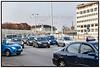 Biltrafik, bilkø,  biler ved Bispebuen,  Åboulevarden i København