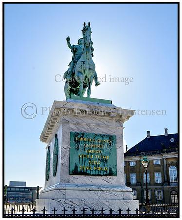 Rytterstatue,  Frederik V, Amalienborg