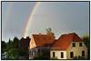 Regnbue Rainbow over husene på Vagtelvej september 2013.