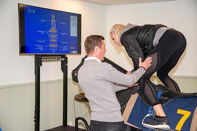 Bianca Salming och Fredrik Johansson  Invigning träningslokal på Bro Park 170514 Foto: Elina Björklund / Svensk Galopp