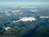 Flyfoto fra SAS i 33.000 fots høyde en klar høstdag. Frostisen.