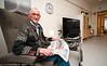 Gamle hedersmann Petter Sandvik. Bilde tatt på Narvik sykehjem. Oktober 2012