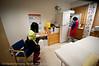 Hente vaksine i kjøleskap. Vaksinasjon hos helsesøster Gun Roaldset på vaksinasjonskontor i gml el-verkbygg, Kongensgate. 12. jan 2012.