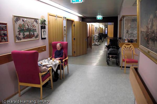 Eldreomsorg, tidligere Narvik Sykehjem på sykehushaugen.