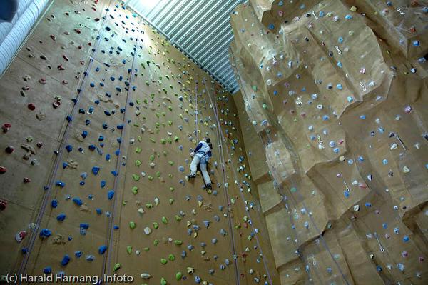 Klatrehallen ved Høgskolen i Narvik, HiN holder meget høy (!) standard,