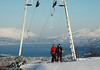 Fra toppen av Ankenesbakken (slalomanlegg). Utsikt over Narvik.