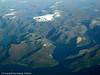 Flyfoto fra SAS i 33.000 fots høyde en klar høstdag. Tysfjorden inn til høyre.