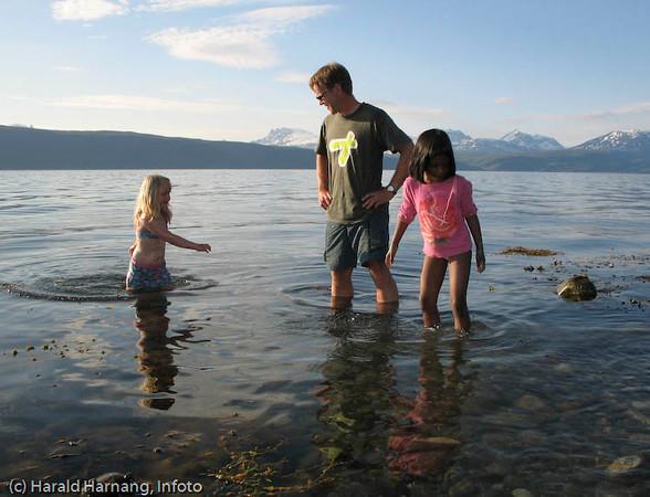 Det hender Ofotfjorden oppnår temperaturer som tillater bading.