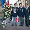Oorlogsverteranen bij het Verzetsmonument Deventer