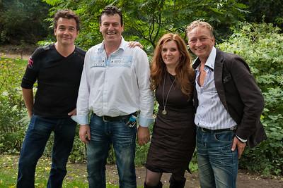 Martin Dams, Gert de Jong, Belinda Berends en Hans Kroes