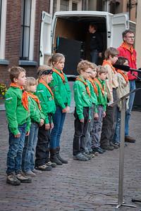 Scouts helpen bij herdenking Indië Monument
