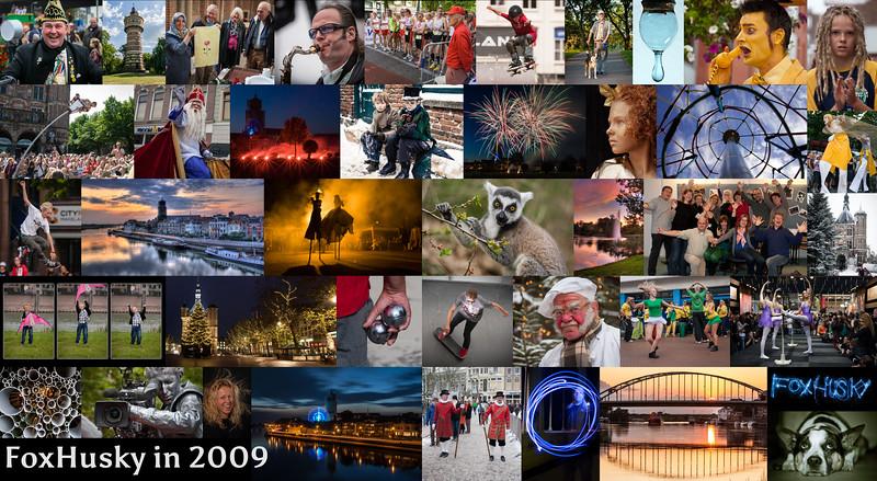 Hoogtepunten in 2009: training digitale fotografie Fotovakschool Apeldoorn, Living Statues in Arnhem, Dickens Festijn in de sneeuw, 150 jaar Sinterklaas in Deventer, winnende foto gemaakt tijdens Deventer op Stelten, Streetmasters event in Apeldoorn, Lebuïnustoren in de steigers, fotograferen in de Apenheul en nog veel meer.