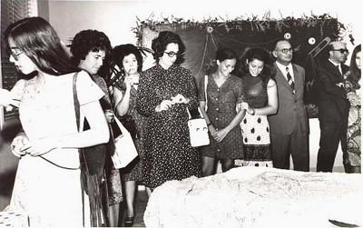 Linda e Ondina Monforte, Ausilia Valente, Helena Duarte, Augusta e Linda Madureira, Eng. Matos e Dr. Monforte