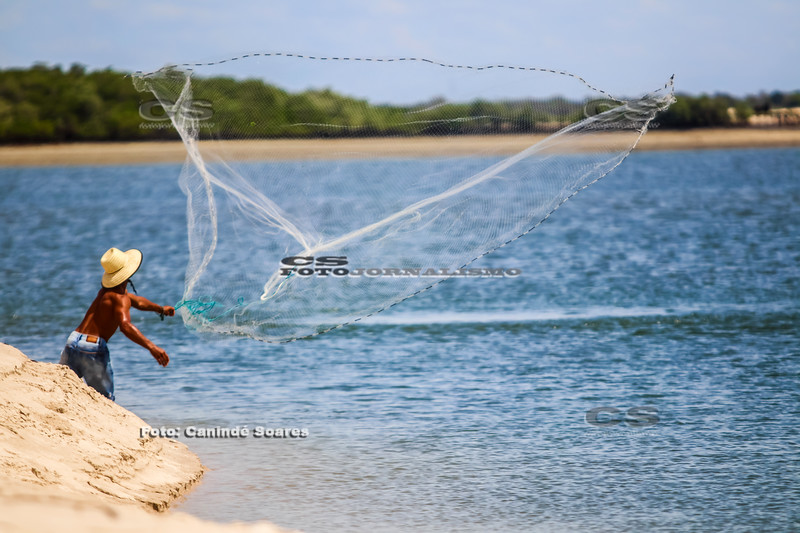 Pescador na Ilha do Presídio