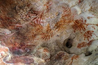 Pinturas rupestre no Lajedo de Soledade