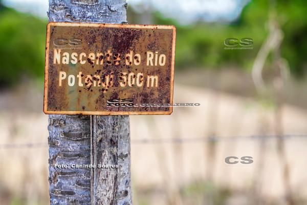 Placa na Nascente do Rio Potengi