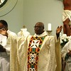 Msgr. Francis Boakye Tawiah celebrates the Divine Mercy Sunday Mass.  (Photo by Lance Murray / NTC)