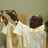 Monsignor Francis Boakye Tawiah during the Liturgy of the Eucharist on April 3.  (Photo by Lance Murray / NTC)