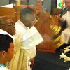 Msgr. Francis Boakye Tawiah uses incense before the expositiion of the Blessed Sacrament.  (Photo by Lance Murray / NTC)