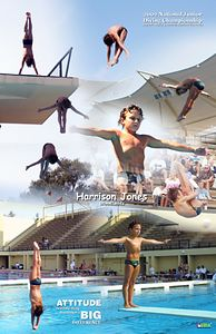 Harrison's picture collage from 2002 Speedo Jr National Championships - Stanford, CA