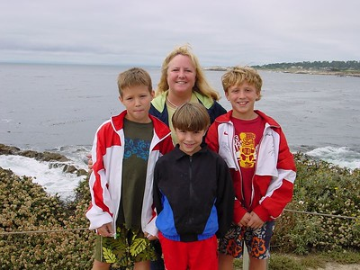 Wendy & the boys stopped along 17 mile drive