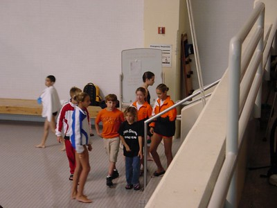 Divers hanging out between events