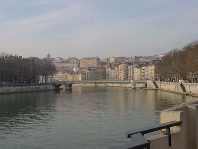 River through Lyon