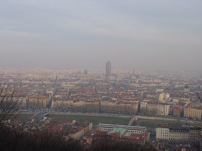 City of Lyon - view from Cathedral - after we hiked up that $%^&* hill