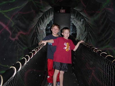 Harrison & Hayden at Wonder Works tunnel