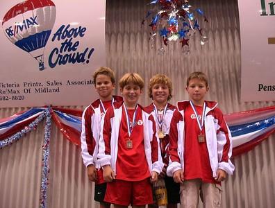 Woodlands 13&U boys, Jake Kinsbach, Wil Mayo, Harrison Jones, & Hayden Jones