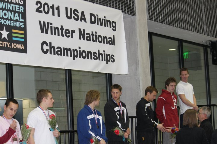 Harrison getting his bronze medal for 1meter