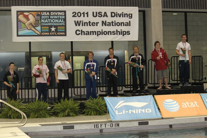 1 meter.  Hayden just missed out of finals and placed 10th.  Harrison Bronze medal