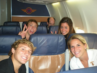 on the plane...