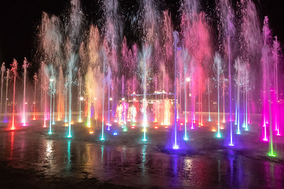 Fountain Show at Ensenada Waterfront