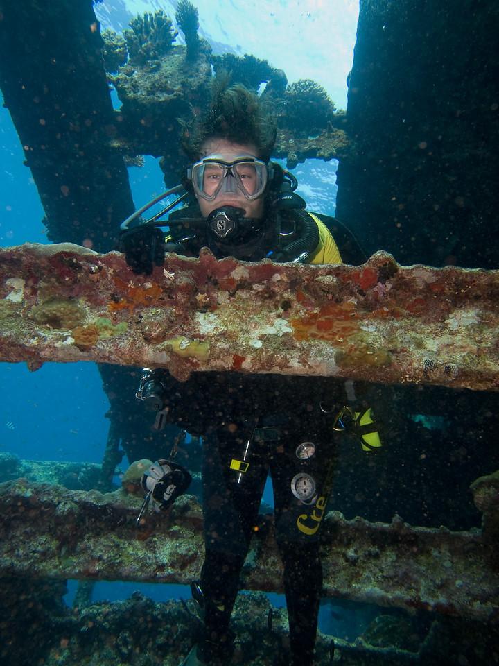 Michael on SS Kingston Wreck
