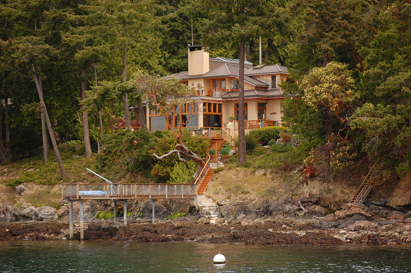 The Anders' home on Orcas