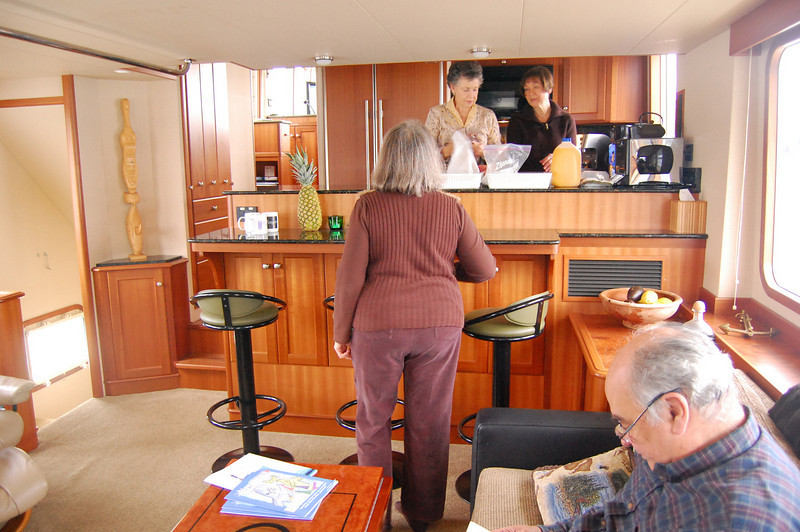 Inside the Apogee's main cabin