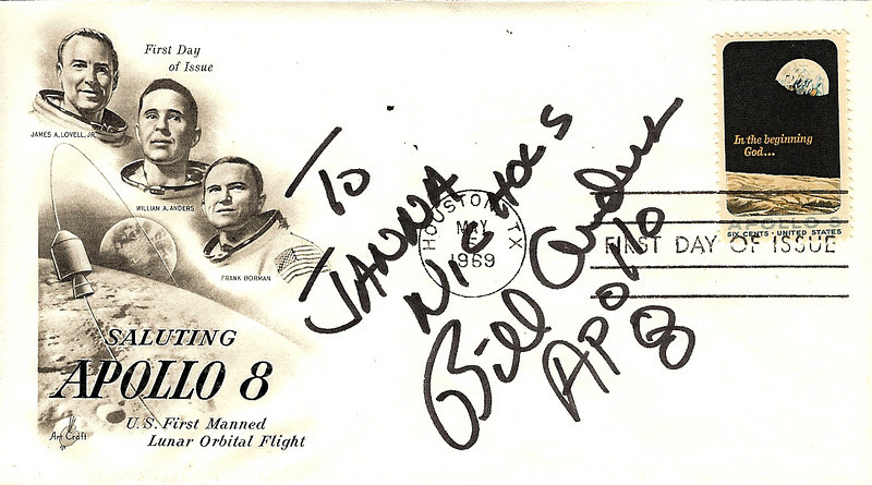 First day cover that Joe's dad had, and Bill signed for me. Very cool! Thank you Joe, Joe's dad, and Bill Anders!