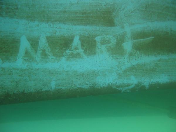 Underwater grafitti