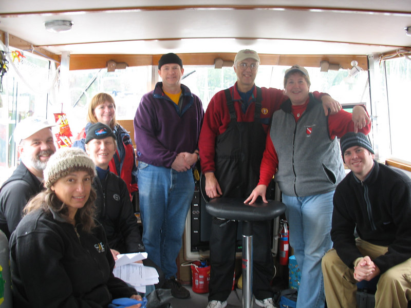 December 2006 - What a great team! Rhoda, Tim, Georgia, Diane, Wes, Don, me and Nolan. Claude was taking the picture.