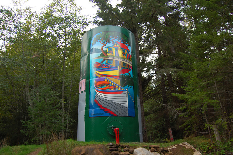 Great artwork on water tower.
