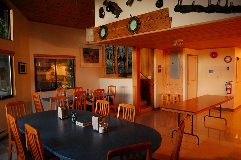 Eating area in the lodge