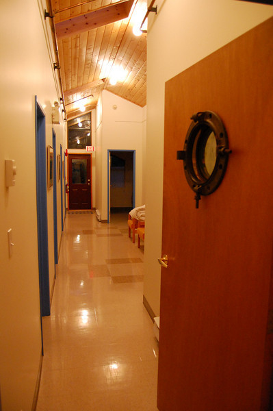 Looking down the upstairs hallway